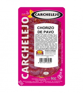 1303-LONCHEADO CHORIZO PAVO 80G